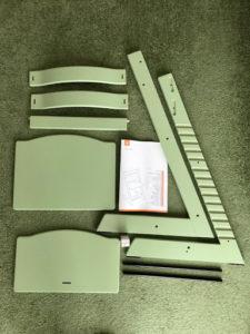 STOKKE トリップ トラップ モスグリーンの組立前部品