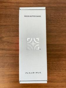プレスバターサンドPURESS BUTTER SANDの箱の表面