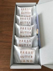 プレスバターサンドPURESS BUTTER SANDの個包装