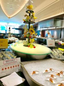 京王プラザホテル札幌レストランランチブッフェのチキンのプレッセ梅風味