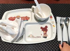 京王プラザホテル札幌レストランランチブッフェの子供用トレイ