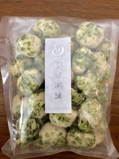 豆吉本舗のあおさ豆のパッケージ表面