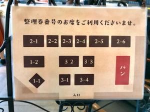 ハートブレッドアンティーク(HEART BREAD ANTIQUE)札幌南郷通店のカフェスペースの案内図