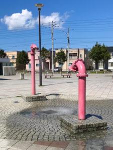 札幌明日風公園の水遊びコーナー