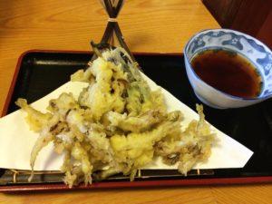 両国総本店のワカサギ天ぷら定食のワカサギの天ぷら