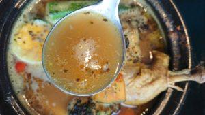 oj珈琲×タニタカフェBRANCH札幌月寒店のチキン野菜カレーのスープ