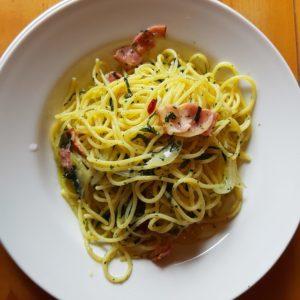 ファームレストランハーベストの季節野菜のペペロンチーノ