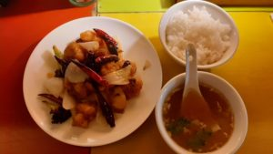 中華バル SABUROKU360の宮保鶏丁定食