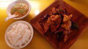 中華バル SABUROKU360の辣子鶏定食