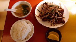 中華バル SABUROKU360のレバニラ定食