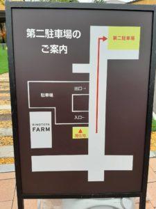 洋菓子スイーツきのとやKINOTOYAファーム店・KINOTOYA cafeの駐車場