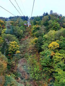【2020年】定山渓高原札幌国際スキー場の紅葉ゴンドラ秋祭り【ゴンドラからの景色】